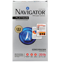 Navigator NPL1420 8 1/2 inch x 14 inch White Ream of 20# Platinum Paper - 5000/Sheets