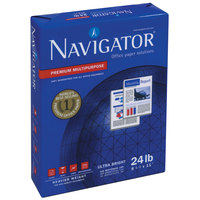 Navigator NMP1124 8 1/2 inch x 11 inch White Case of 24# Premium Multipurpose Paper - 5000/Sheets