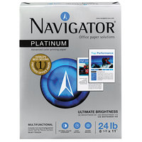 Navigator NPL11245R 8 1/2 inch x 11 inch White Case of 24# Platinum Paper - 2500 Sheets