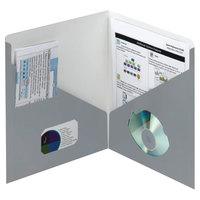 Smead 87991 Contemporary Letter Size 2-Pocket Paper Pocket Folder, Blue-Gray - 25/Box