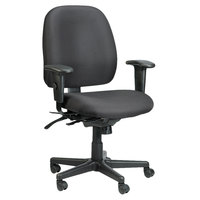 Eurotech 49802A-AT33 4x4 Series Black Fabric Mid Back Multifunction Swivel Office Chair