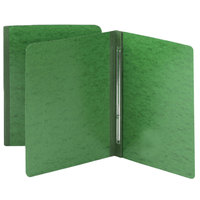 Smead 81452 8 1/2 inch x 11 inch Green Letter Report Cover with Prong Fastener - 3 inch Capacity