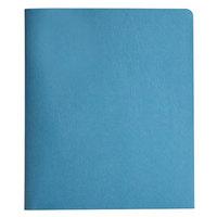 Smead 88052 Letter Size Heavyweight 2-Pocket Paper Pocket Folder - Tang Fasteners, Blue - 25/Box