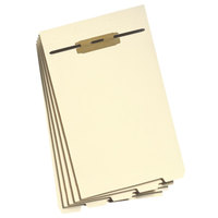 Smead 35650 8 1/2 inch x 14 inch 1/5 End Tab Stackable Folder Divider With Fastener - Legal - 50/Pack
