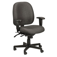 Eurotech 49802A-H5511 4x4 Series Charcoal Fabric Mid Back Multifunction Swivel Office Chair