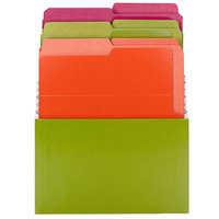 Smead 70222 8 3/4 inch x 10 1/2 inch Bright Assorted Color 3 Section Stadium File with Vertical Folder, Letter