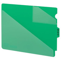 Smead 61962 9 1/2 inch x 12 3/4 inch Green Poly Out Guide with Diagonal-Cut Pockets, Letter - 50/Box