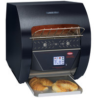 Hatco TQ3-400 Toast-Qwik Black Conveyor Toaster with 2 inch Opening and Digital Controls - 120V, 1780W