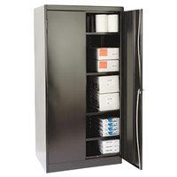 Tennsco 1480BK High Standard 36 inch x 24 inch x 72 inch Black Storage Cabinet