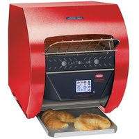 Hatco TQ3-400 Toast-Qwik Red Conveyor Toaster with 2 inch Opening and Digital Controls - 120V, 1780W