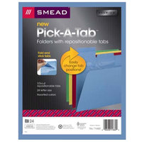 Smead 11660 Pick-A-Tab 8 1/2 inch x 11 inch Assorted Colors 1/3 Cut Top Tab File Folder - Letter   - 24/Pack