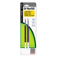 Zebra 87022 JF Roller Ball Blue Ink Medium 0.7mm Point Roller Ball Retractable Gel Pen Refill - 2/Pack
