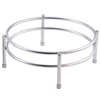 Clipper Mill by GET IRS-06 Boulevard Stainless Steel Round Riser with Brushed Finish - 10 inch x 4 inch