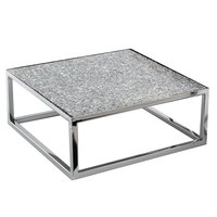 Clipper Mill by GET RISCR-07 Levels Chrome Plated Iron Square Riser - 12 inch x 12 inch x 7 inch