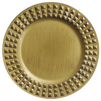 The Jay Companies 13 inch Round Gold Antiqued Melamine Charger Plate