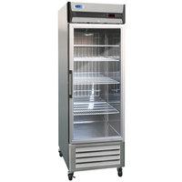 Nor-Lake NLR23-G AdvantEDGE 27 1/2 inch Single Glass Door Reach-In Refrigerator - 23 Cu. Ft.