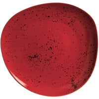 Schonwald 938121563046 Pottery 6 1/8 inch Unique Red Organic Porcelain Plate - 12/Case