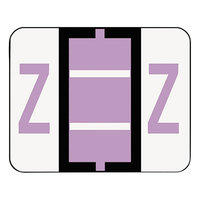 Smead 67096 1 1/4 inch x 1 inch Alpha-Z Color-Coded Lavender Letter Z Name Filing Label - 500/Roll