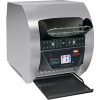 Hatco TQ3-500H Toast-Qwik Stainless Steel Conveyor Toaster with 3 inch Opening and Digital Controls - 240V, 2220W