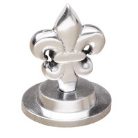 Clipper Mill by GET SGN-24 2 1/2 inch Chrome Plated Iron Fleur de Lis Card Holder