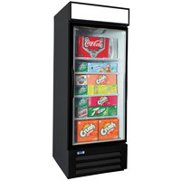 Nor-Lake NLGRP27-HG-B AdvantEDGE 30 inch Black Swing Glass Door Refrigerated Merchandiser with LED Lighting - 25 Cu. Ft.