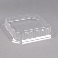 Genpak SQ99 9 inch Clear Square Dome Plate Lid - 200/Case