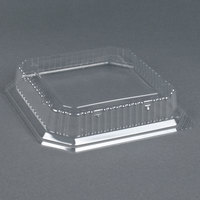 Genpak SQ99 9 inch Clear Square Dome Lid for Square Plate 200 /Case