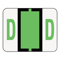 Smead 67074 1 1/4 inch x 1 inch Alpha-Z Color-Coded Light Green Letter D Name Filing Label - 500/Roll