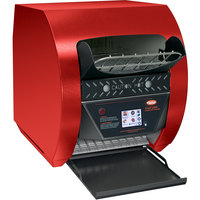 Hatco TQ3-900H Toast-Qwik Red Conveyor Toaster with 3 inch Opening and Digital Controls - 240V, 3020W