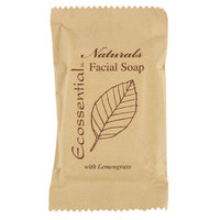 Ecossential Naturals Hotel and Motel Facial Soap 0.53 oz. Bar - 400/Case