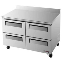 Turbo Air TWF-48SD-D4 48 inch Super Deluxe Four Drawer Worktop Freezer - 12 cu. ft.