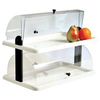 Clipper Mill by GET ACRDIS-02 20 inch x 12 inch Clear Acrylic Two-Tier Pastry Display
