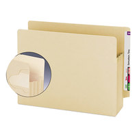 Smead 75150 TUFF Letter Size Extra Wide File Pocket with Tyvek® Reinforced Gusset - 10/Box