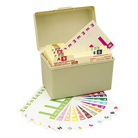 Smead 67150 3 1/8 inch x 1 3/16 inch Alpha-Z Color-Coded First Letter Alpha Label Kit with Box - 1500/Box