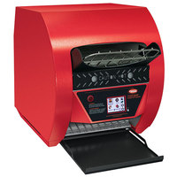 Hatco TQ3-500H Toast-Qwik Red Conveyor Toaster with 3 inch Opening and Digital Controls - 208V, 2220W