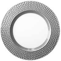 The Jay Companies 1470439 13 inch Silver Daphne Glass Charger Plate