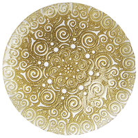 The Jay Companies 13 inch Gold Bombay Glass Charger Plate