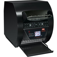 Hatco TQ3-900H Toast-Qwik Black Conveyor Toaster with 3 inch Opening and Digital Controls - 240V, 3020W
