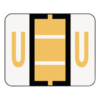 Smead 67091 1 1/4 inch x 1 inch Alpha-Z Color-Coded Light Orange Letter U Name Filing Label - 500/Roll