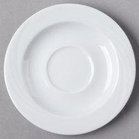 Schonwald 9186918 Donna 6 1/4 inch Round Continental White Porcelain Saucer - 12/Case