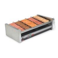 Nemco 8250SX-SLT Digital Slanted Hot Dog Roller Grill with GripsIt Non-Stick Coating - 50 Hot Dog Capacity (120V)