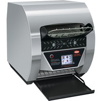 Hatco TQ3-900 Toast-Qwik Stainless Steel Conveyor Toaster with 2 inch Opening and Digital Controls - 208V, 3020W