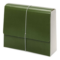 Smead 70768 SuperTab 12 inch x 10 inch Green 12 Pocket Expanding File - Letter