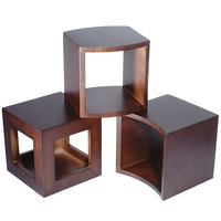 Clipper Mill by GET WR-810 Modal 12 inch Brown Wood Cube Riser Set