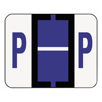 Smead 67086 1 1/4 inch x 1 inch Alpha-Z Color-Coded Violet Letter P Name Filing Label - 500/Roll