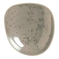 Schonwald 938570963043 Pottery 3 1/2 inch Unique Light Gray Organic Porcelain Plate - 24/Case