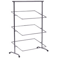 Clipper Mill by GET IR-907 POP 22 inch x 11 inch Gray Powder Coated Iron Rectangular 3-Tier Tilted Pane Stand