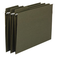 Smead 64137 8 1/2 inch x 14 inch Green 1/3 Cut FasTab Recycled Hanging File Folder - Legal - 20/Box
