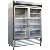 Nor-Lake NLR49-G AdvantEDGE 55 inch Two Glass Door Reach-In Refrigerator - 49 Cu. Ft.