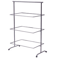 Clipper Mill by GET IR-902 POP 22 3/4 inch x 11 inch Gray Powder Coated Iron Rectangular 3-Tier Pane Stand